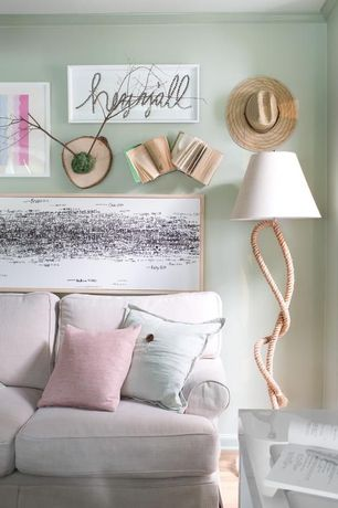 Contemporary Living Room with Calliope Pillows - Maui, Dawn Pink Washed Linen Pillow Case, Paused Rope Floor Lamp