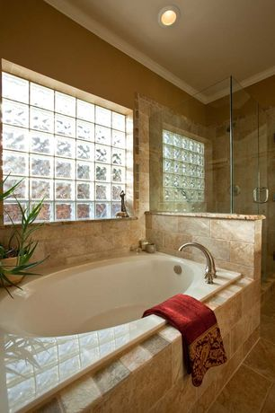 "Traditional Master Bathroom with Reliance Whirlpools Reliance 59"" x 36"" Rectangular Bathtub with End Drain, Master bathroom"