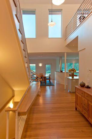 Modern Hallway with Fine mod imports fmi2000-white artichoke leaf chandelier, white