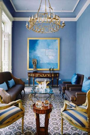Blue Living Room Crown Molding Design Ideas Pictures