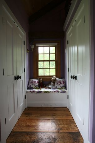Craftsman Hallway with OORS ANTIQUE HEART PINE RUSTIC RECLAIMED WOOD FLOORING