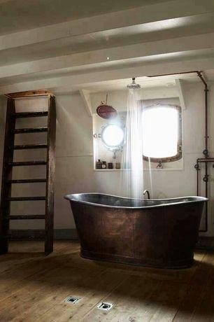 Eclectic Full Bathroom with Rain shower, Hamilton Marine LIFT RING FLUSH, Freestanding, Exposed pipes, Floor hatch
