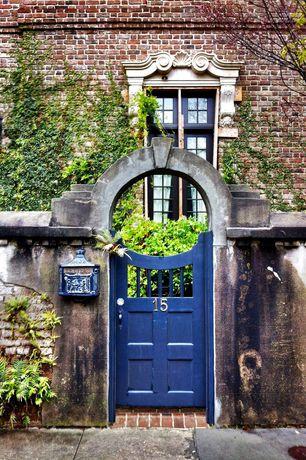 Rustic Front Door with Brick exterior, Historic home, Accent door