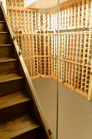 Contemporary Wine Cellar with Paint 1, Standard height, Concrete floors, Polished concrete floor
