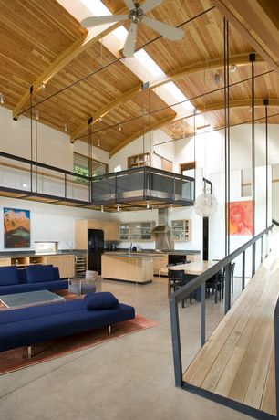 Modern Great Room with Modloft Astor Dining Table, Urbn lucas 3 seater left l-shape sofa, Bensen sleeper sofa with 2 cushions