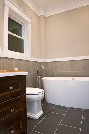 Traditional Full Bathroom with AKDY 67-inch OSF277+8723-AK Europe Style White Acrylic Free Standing Bathtub