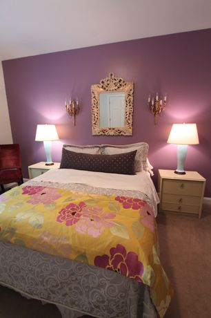 Eclectic Guest Bedroom with Majestic Mirror Beveled Mirror, Majestic Mirror Beveled Mirror