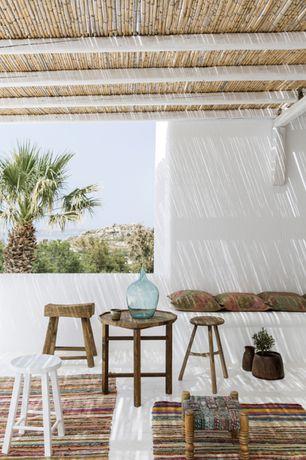 Mediterranean Porch with exterior tile floors, exterior concrete tile floors