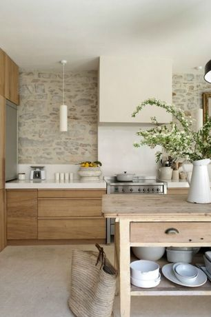 Contemporary Kitchen with 4 in. UltraCompact Surface Countertop in Zenith