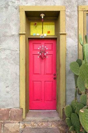 Eclectic Front Door with Cactus