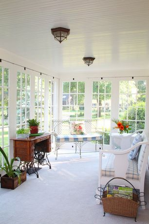 Cottage Porch with Screened porch, Raised beds, picture window, Pathway