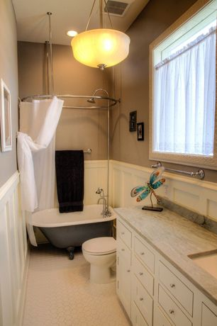Traditional Full Bathroom with Complex granite counters, Rain shower, Inset cabinets, Full Bath, curtain showerdoor, Casement