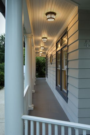 Traditional Porch with Wrap around porch, Pathway
