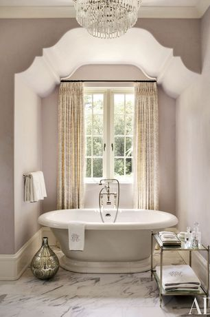 Traditional Master Bathroom with Crown molding, High ceiling, Master bathroom, Pental calacatta extra polished marble