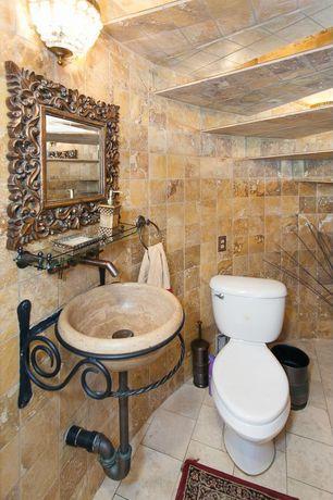 Mediterranean Powder Room With Kitchen Lav 23 Vivaldi Pedestal Stand