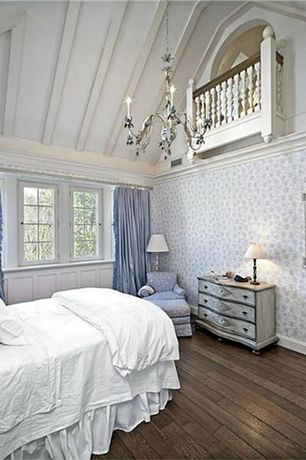 Traditional Master Bedroom with Balcony, Eloquence bordeaux french country heavy distress white wash dresser commode