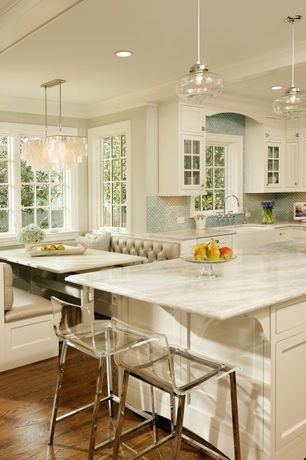 Traditional Kitchen with Ceramic Tile, Window seat, Kichler - everly collection everly 1 light pendant, Pendant light