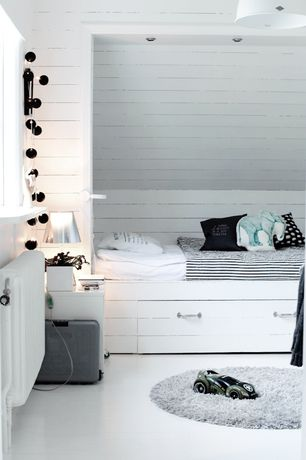 Contemporary Kids Bedroom with Laminate floors, RANARP Pendant lamp, flush light, NYPONROS Duvet Cover And Pillowcase