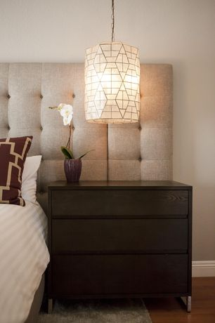 Contemporary Master Bedroom with West elm hudson three drawer dresser, chocolate