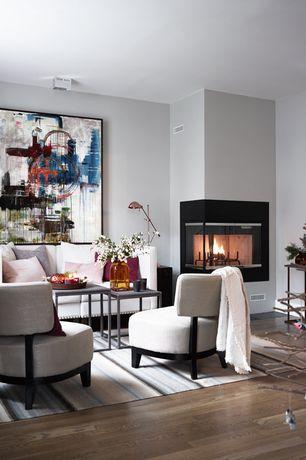 Contemporary Living Room with Natural reflections oak desert natural solid hardwood flooring 40, Hardwood floors