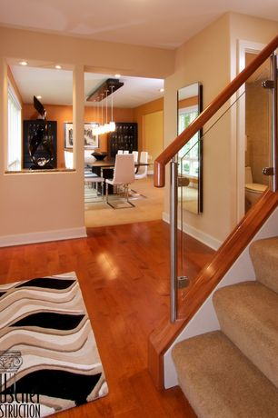 Modern Entryway with Hardwood floors