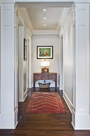 Traditional Hallway with Recessed lighting, Paint 1, Paint 1