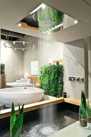 Tropical Master Bathroom with Pendant light, Master bathroom, Victoria & albert vnapnrh napoli soaking tub, Freestanding