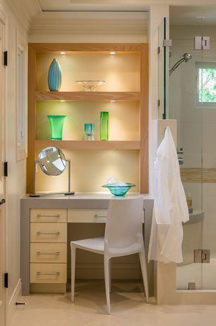 Contemporary Master Bathroom with Ms international sunny light limestone