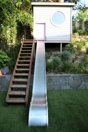 Contemporary Landscape/Yard with Raised beds, Pathway