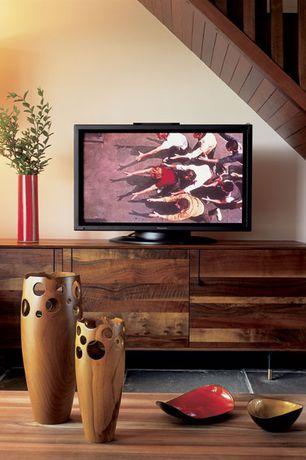 Modern Living Room with High ceiling, soapstone tile floors