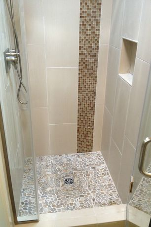 Cottage 3/4 Bathroom with Handheld showerhead, Canyon vista 12 in. x 12 in. x 4 mm glass mesh-mounted mosaic tile