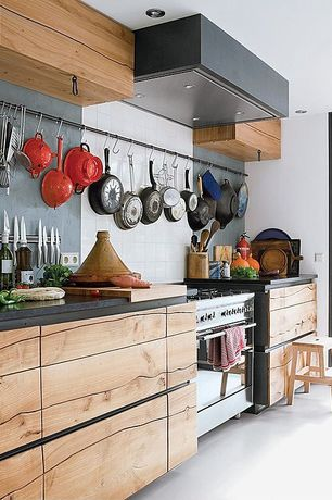 Contemporary Kitchen with Standard height, Deluxe magnetic knife bar, full backsplash, Rustic wood cabinets, Paint 3, Paint 2