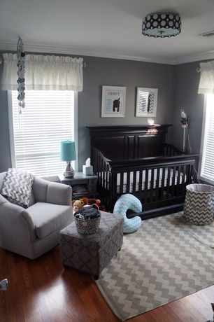 Traditional Kids Bedroom with Standard height, Crown molding, flush light, no bedroom feature, Doodlefish grey chevron rug