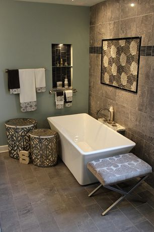 Contemporary Master Bathroom with Freestanding, Master bathroom