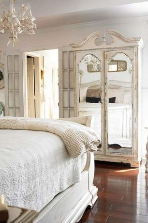 room with Chandelier, French doors, Hardwood floors, Crown molding, Standard height, Chair rail