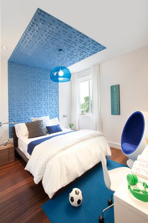 Contemporary Kids Bedroom with Braille Wall Flats, Fine Mod Easter Chair, Heaven Sent Blue Jay  Carpet Tile, flush light