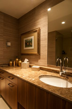 Traditional Full Bathroom with Complex granite counters, Ceramic Tile, stone tile floors, partial backsplash, Wall Tiles