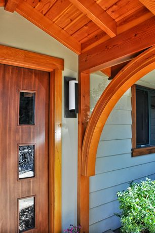 Craftsman Front Door with specialty window, Glass panel door