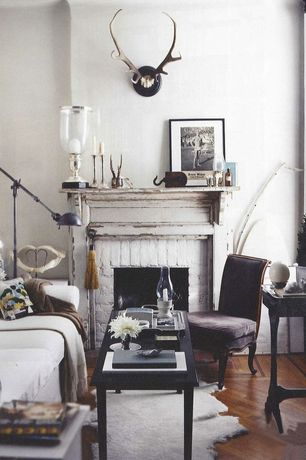 Eclectic Living Room with Hardwood floors