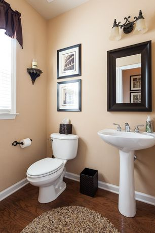 Traditional Powder Room with wall-mounted above mirror bathroom light, Golden lighting 1089-ba2 rsb 2 light downlight