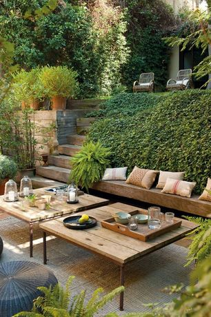 Rustic Patio with Pathway, Raised beds