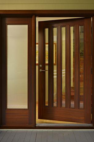 Contemporary Front Door with Glass panel door, picture window