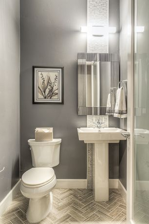 Bathroom pedestal sink design ideas pictures zillow digs for Two piece bathroom ideas