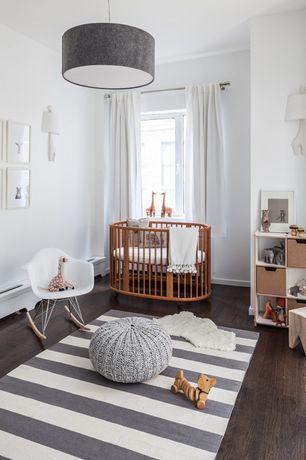 Contemporary Kids Bedroom with Jonathan Adler Left Facing Giraffe 1 Light Wall Sconce, Hardwood floors, Wall sconce