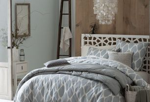 Guest Bedroom with Honeycomb Textured Wool Rug - Plaster, West Elm Organic Ikat Ogee Duvet Cover + Shams - Platinum