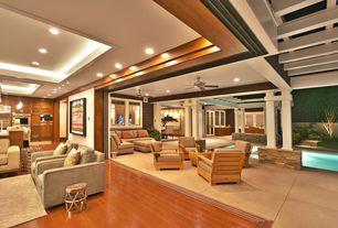Contemporary Patio with Nana wall sytem, Tray ceiling