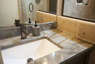 Contemporary Master Bathroom with Ms international mojave sand 20 in. x 20 in. glazed ceramic floor and wall tile