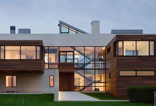 Contemporary Exterior of Home with Geometric exterior