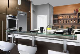 Contemporary Kitchen with Sea Gull Lighting 1-light Chrome Finish Mini-pendant with Etched Opal White Glass