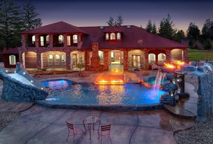 Rustic Swimming Pool with Water slide